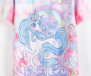 shirt, unicorn, and tee image
