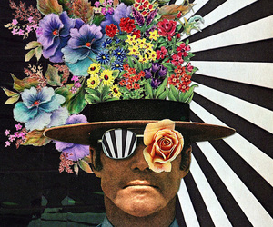 art, Collage, and cops image