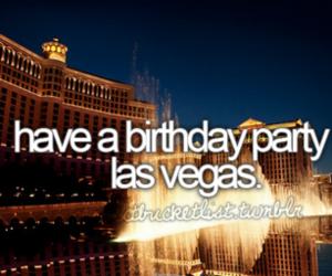 Las Vegas, party, and birthday image