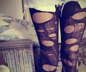 black, black and white, and tights image