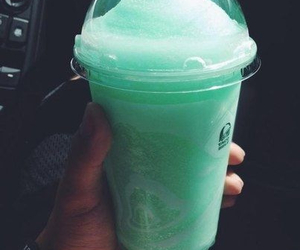 drink, green, and yummy image