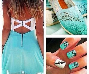 dress, nails, and fashion image