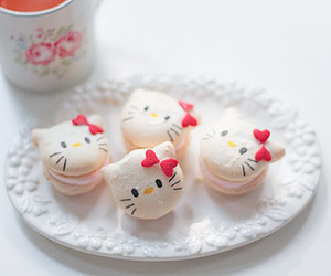 hello kitty, sweet, and food image