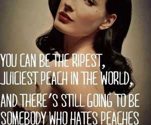 quote, Dita von Teese, and peach image