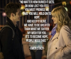 emma stone, quote, and gwen stacy image