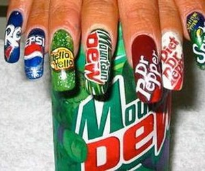 nail art and color in food & life image