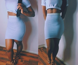 outfit, body, and skirt image