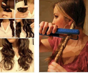blond, braid, and curles image