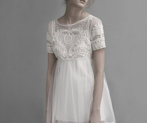dress, high, and white image