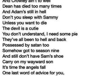dean, poem, and Sam image