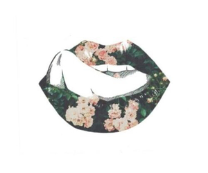 lips and flowers image