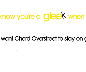 glee, text, and chord overstreet image