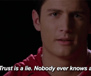 one tree hill, lies, and nathan scott image
