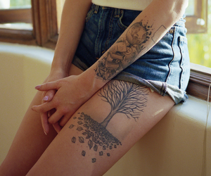 arm tattoos, tattoos for girls, and girly tattoos image