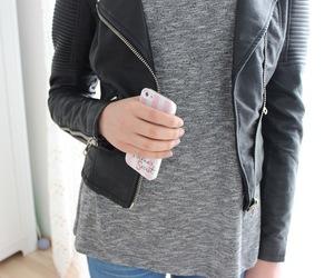 biker, black jacket, and blogger image