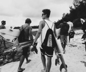 boy, surf, and beach image