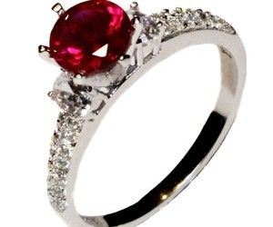 promise ring, ruby ring, and ruby promise ring image