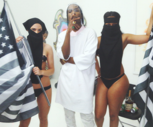 black, asap rocky, and dope image