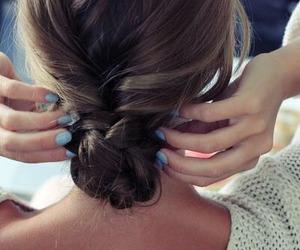 hair, fashion, and nails image