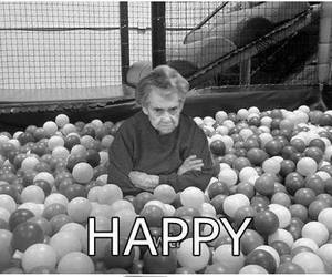 happy, black and white, and funny image