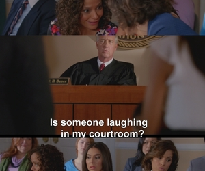 laughing, courtroom, and zoila image