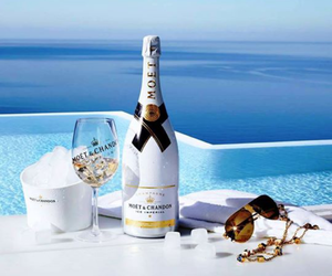 champagne, summer, and luxury image