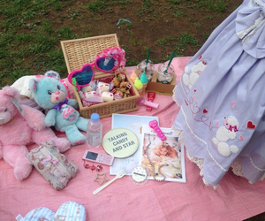 fancy, picnic, and pink image