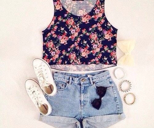 fashion, girly, and flowers image