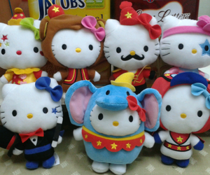 circus, clown, and HelloKitty image