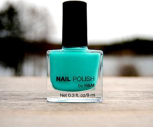 nail polish, H&M, and blue image