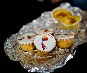 cupcakes, curious george, and lia's bday image