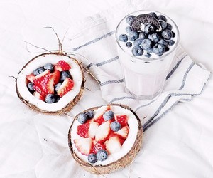 breakfast, food, and coconut image