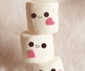 marshmallow, mini, and sweet image