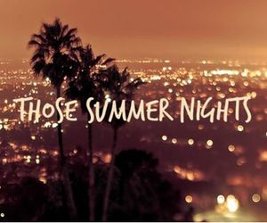 night and summer image