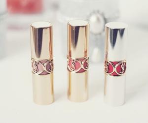 lipstick, makeup, and YSL image