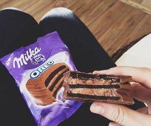 oreo, milka, and chocolate image