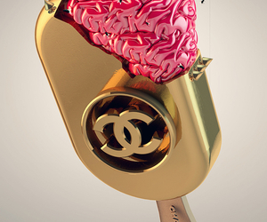 brain, chanel, and gold image