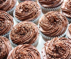 chocolate, cupcake, and yummy image