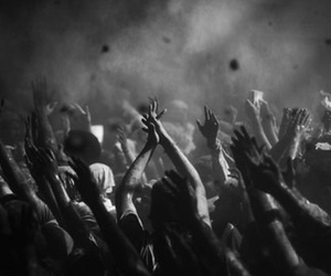 beautiful, black and white, and concert image