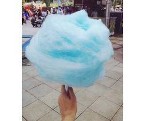 blue, candy floss, and cute image