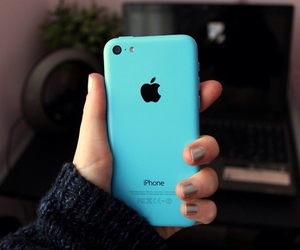 blue, iphone, and 5c image