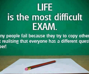life, exam, and quote image