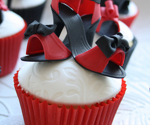 cupcake, shoes, and red image