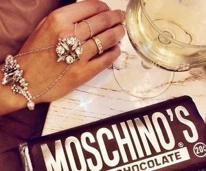 chocolate, Moschino, and ring image