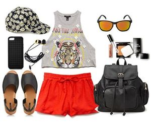 outfit, forever 21, and shorts image