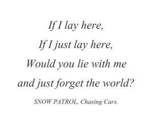 music, snow patrol, and chasing cars image