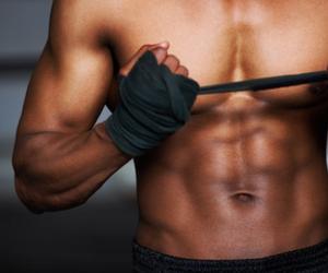 bandage, fight, and men image