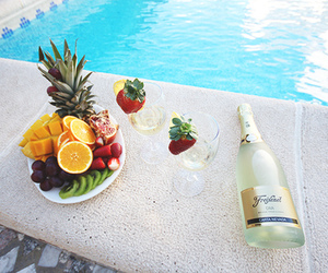 fruit, champagne, and luxury image