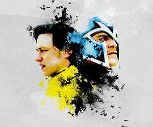 x-men, charles, and magneto image
