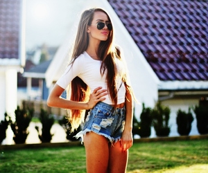 girl, skinny, and summer image